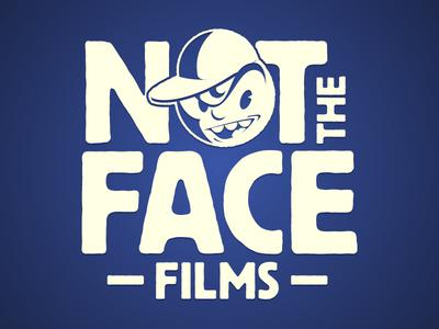 Not The Face Films typography jerk bully comedy film character illustration design branding logo