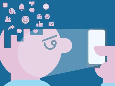 Social Media / Self Esteem illustration