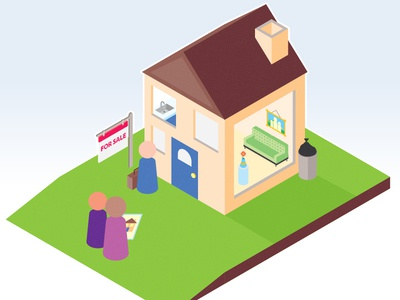 Real Estate Infographic isometric home house real estate editorial infographic illustration