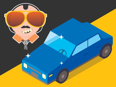 Used Car Guy funny illustrator deal car infographic illustration