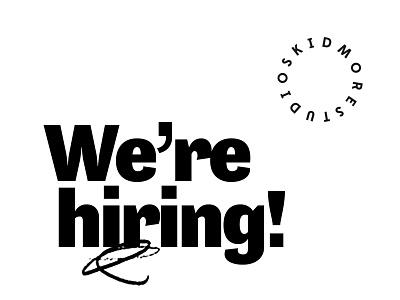 We're hiring! job board jobs packaging branding digital illustration brand identity detroit graphic designer detroit design