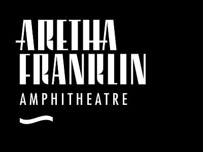 Aretha Franklin Amphitheatre venue visual id brand identity visual design visual identity logo detroit detroit graphic designer design