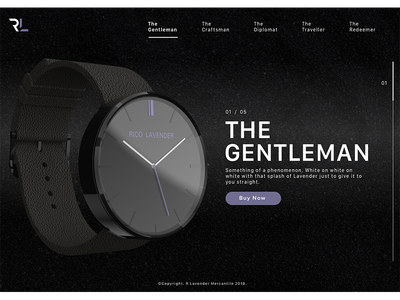 The Gentleman fashion design product ui ux watch web