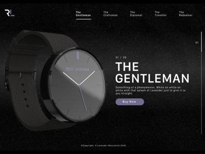 The Gentleman fashion design product ui ux watch web