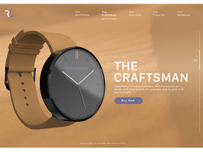 The Craftsman fashion design product ui ux watch web