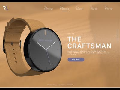 The Craftsman fashion design product ui ux watch web