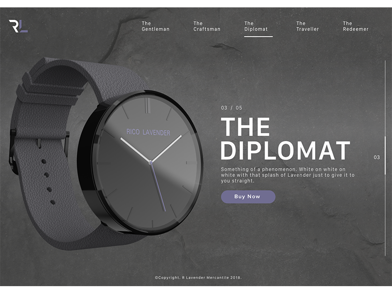 The Diplomat fashion design product ui ux watch web