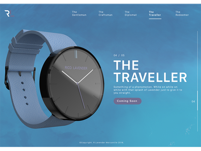 The Traveller fashion design product ui ux watch web