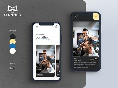 The Manner Barbershop ui design product design mobile ui product design