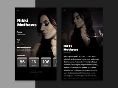 User Profile IOS Dating App concept