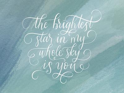 Brightest Star Lyrics lyrics handletteredlyrics ipadpro procreateart procreate ipadlettering hand drawn handmadefont typography handlettering handlettered
