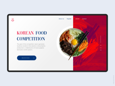 Food Competition Landing Page