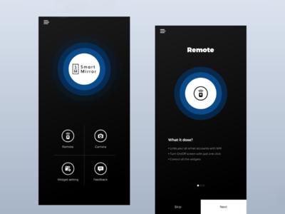 Smart Mirror App ui