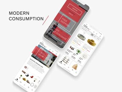 Modern Consumption - Furniture Store furniture website furniture store furniture app online shopping online store web development web design branding graphic design design ux ux design ui uidesign
