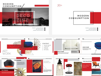 Modern Consumption Catalog midcentury modern furniture modern catalog booklet print design print collateral branding graphic design design