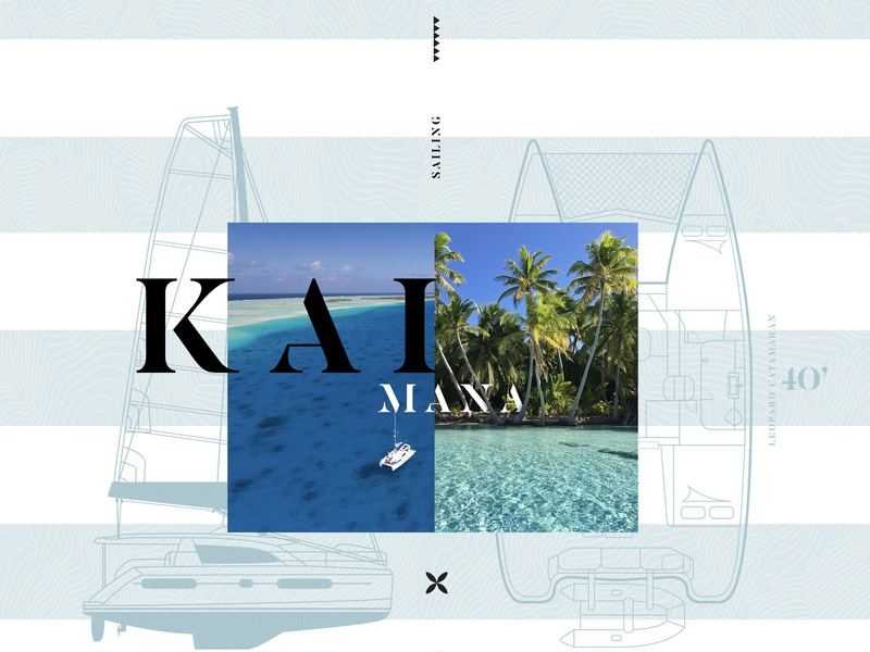 Kaimana Boat typography illustration