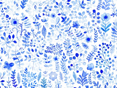Vector seamless pattern watercolor seamless pattern blue vector