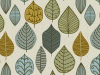 Leaf pattern seamless textile pattern