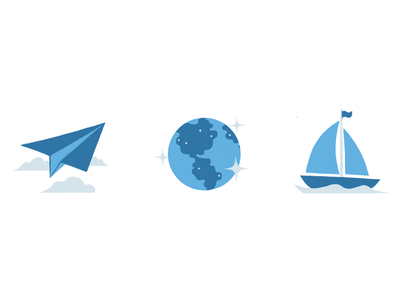 Explore icon illustration flat