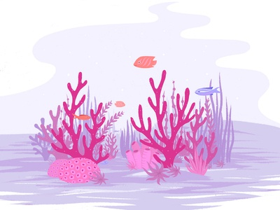 Coral Reef Dive coral reef coral flat illustration