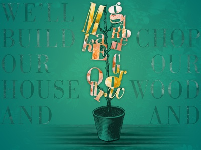 Make Our Garden Grow letters design typography
