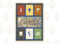 Orléans Board Game Cover Redesign proportion layout design typography