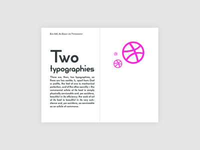 Two Typographies geometric geometry layout design proportion typography