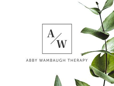 Abby Wambaugh Therapy minimalist branding typography web design identity logo