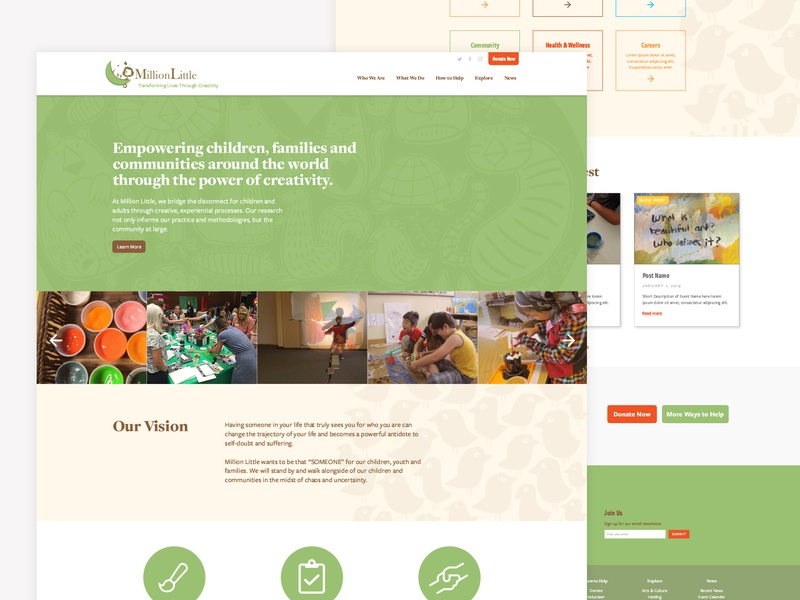 Landing Page for Nonprofit landing page nonprofit typography web design web website