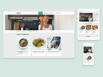 Jessica Seinfeld 2 recipe website responsive design