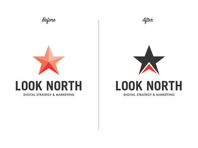 Look North Logo Before & After branding refresh star rebranding