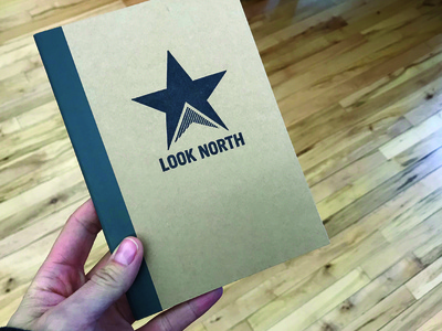 Look North Notebooks hand made notebook stamp
