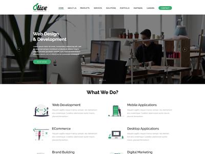 Olive Website UI xd ai ps ux ui