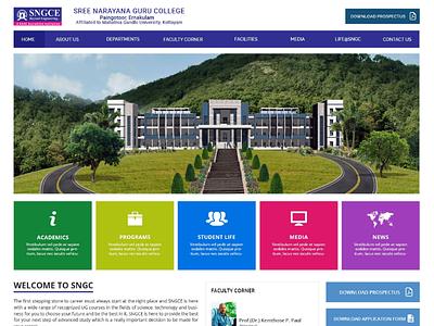SNGC College Website xd ai ps ux ui