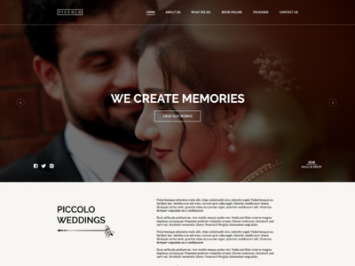 Piccolo Wedding Website UI xd ai ps ux ui