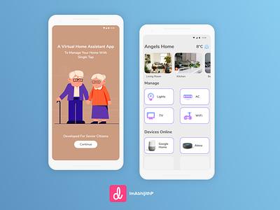 Virtual Home Assistant App minimal logo icon design app ux xd ui ps ai