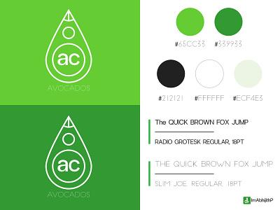 Avocados - Logo Design icon logo minimal flat typography vector branding illustration ps ai