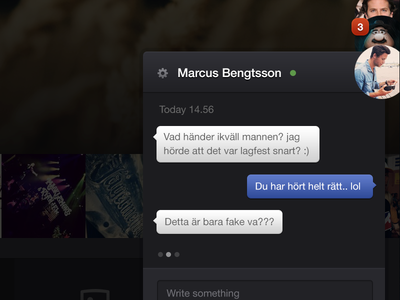 chat feature - retina