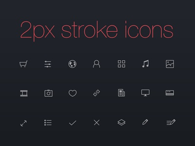 Thinicons - free psd