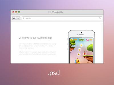 web-browser psd