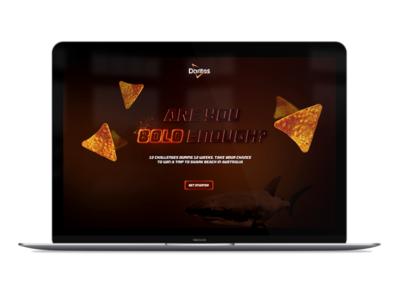 Bold enough? fire effects glow web design ad campaign doritos