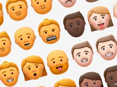 more emojis emojis emoji shadows light avatars illustration icon design
