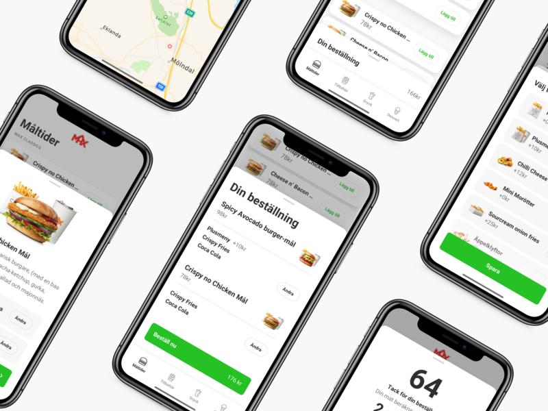 Max express order design ios app burger menu order