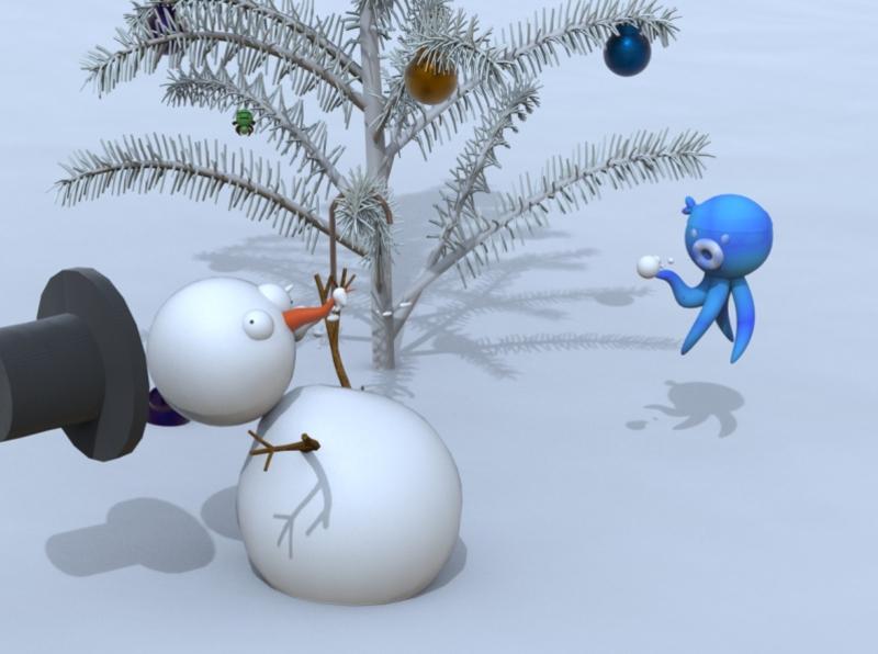 fight snow man maya