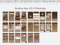 Bookup App iOS UI Redesign - Screen Flow