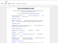 Facebook Messenger Chatbot - Conversation Script