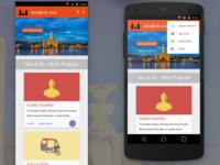 Bangkok.com: a Material redesign (mobile homepage)