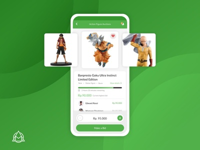 UI Exploration for action figure auction app