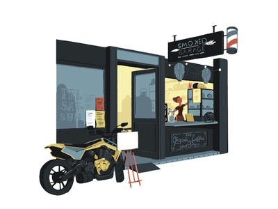 Smoked drawing illustrator girl brisbane animation design illustration