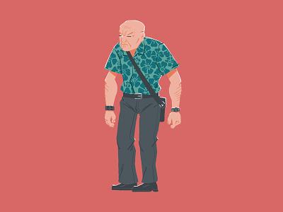 003 - Hawaiian Cobber man cartoon photoshop art photoshop illustrator brisbane drawing design illustration
